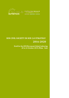 SUN Civil Society Network Strategy 2016-2020