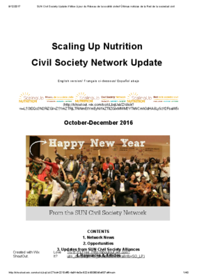 SUN Civil Society Network Newsletter